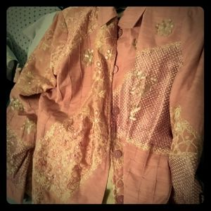 Pink and Gold Plus Size Jacket
